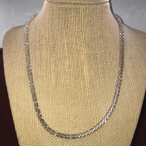 Milor Sterling silver rope necklace, made in Italy